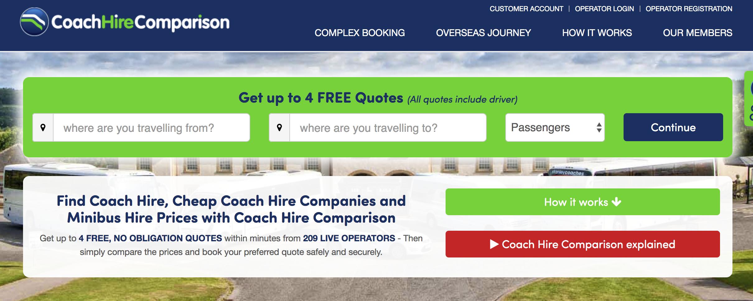 Coach Hire Comparison – a case study